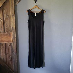 J Jill long black summer dress large